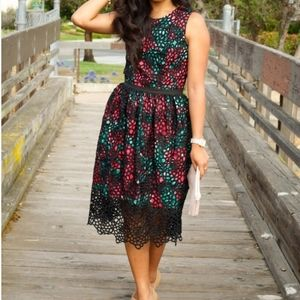 Anthropologie Wolven Floral Terrace Dress Size 6